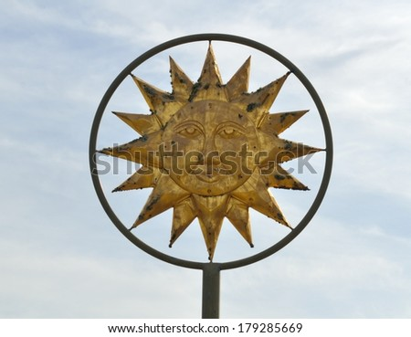 Sun God Symbol - stock photo