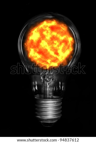 Sun in lamp. - stock photo