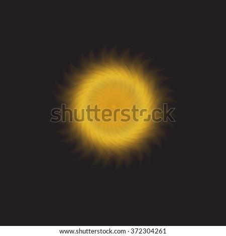 Sun in the black sky. - stock photo