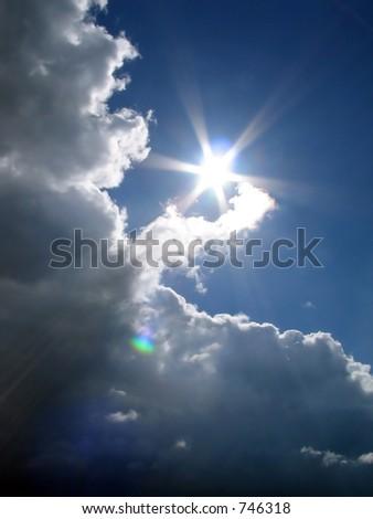Sun in the sky - stock photo