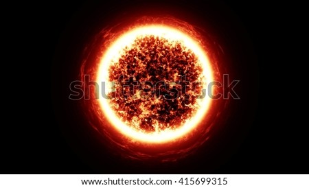 sun in the space