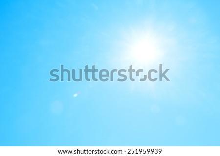 Sun light background - stock photo