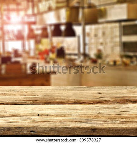 sun light in restaurant interior and space of wood and retro chic - Light Hardwood Restaurant Decoration