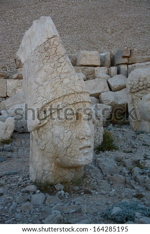 sun light on monument of god in nemrut adiyaman