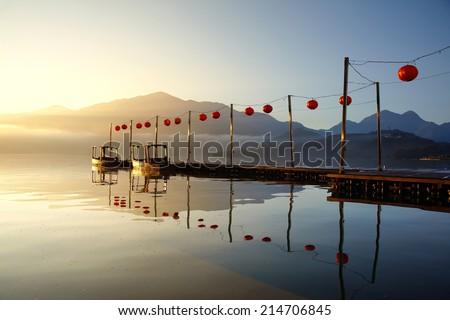 Sun-Moon Lake, morning - Picture of Taiwan - stock photo