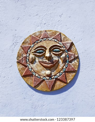 Sun on the wall. Colonia de Sacramento, Uruguay