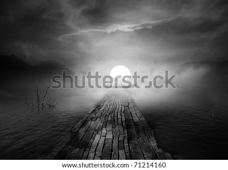 Sun passion for life (conceptual surreal style) - stock photo