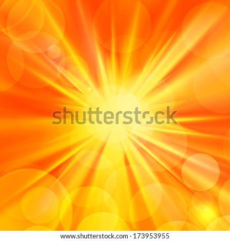 sun,rays and yellow background
