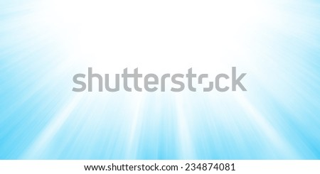 sun rays or sun beams background, bright sun shining in the sky, zoomed filter effect, glowing brilliant streaks of light, abstract artsy blue sky background - stock photo