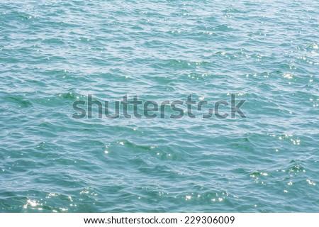 Sun reflection on sea water  - stock photo