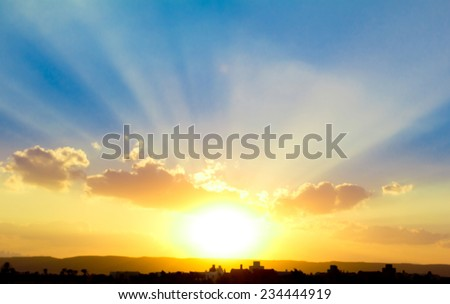 Sun Rocketing to the Sky  - stock photo