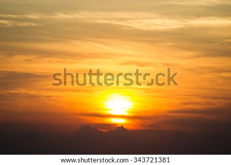 Sun set sky background.