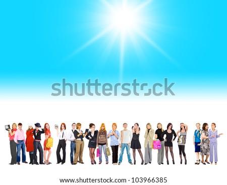Sun Shining Diversity Among Us - stock photo