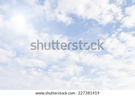 sun sky clouds - stock photo