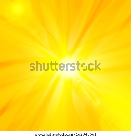 sun,, sky orange yellow background  rays