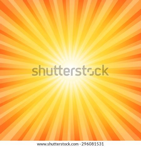 Sun Sunburst Pattern - stock photo