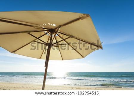 Sun umbrella - stock photo