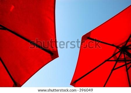 Sun umbrellas - stock photo