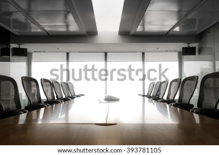Sun up in the  morning  with business conference room/ For  business grow concept - stock photo