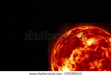 Sun with Fiery Explosions, Thermal Winds and Swirling Turbulence.Elements of this image furnished by NASA - stock photo