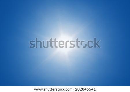 Sun with sun ray - stock photo