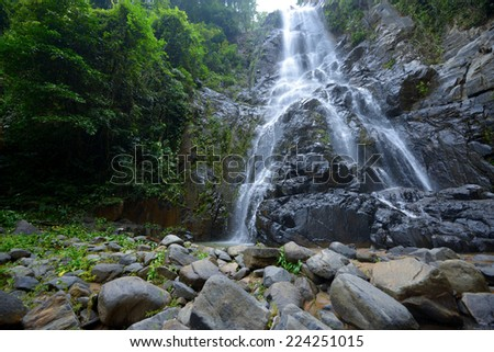 Sunanta Waterfall is beautiful waterfall in Nakhon si thammarat,Thailand - stock photo