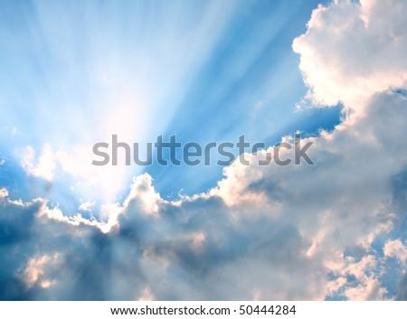 Sunbeam - stock photo