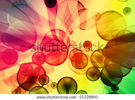 sunbeam and  bubble multicolored cool background
