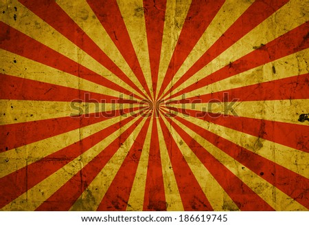 Sunbeam on grunge background  - stock photo