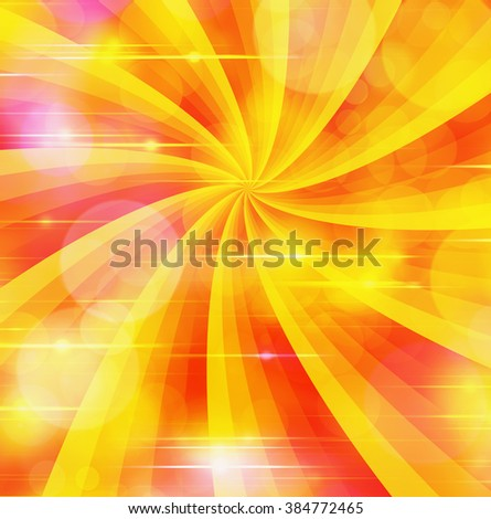sunbeam warm summer backgrounds with flashes - stock photo