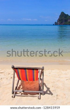 Sunbed on Phi Phi island in Thailand