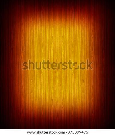 Sunburst finish on wooden surface - stock photo