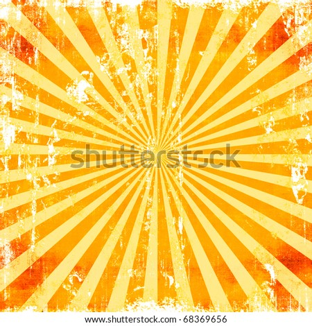 Sunburst Grunge Rays Background Texture - stock photo