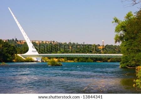 Sundial Bridge in Redding - stock photo