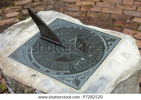Sundial is a common pride in the many parks in the world - stock photo