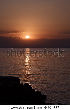Sundown at Croatia - stock photo