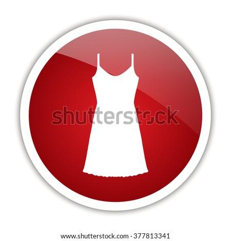 Sundress, Evening dress, combination or nightie, the silhouette. Menu item in the web design. - stock photo