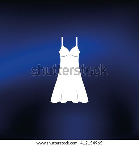 Sundress icon. Evening dress. Combination or nightie. The silhouette.  - stock photo