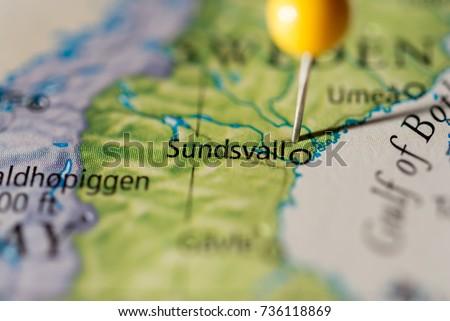 Sundsvall Stock Images RoyaltyFree Images Vectors Shutterstock - Sweden map sundsvall