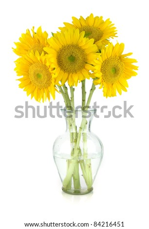 Sunflower Bouquet - stock photo
