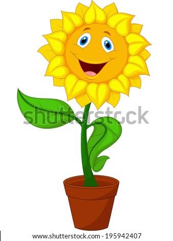 Sunflower Cartoon Stock Illustration 195942407