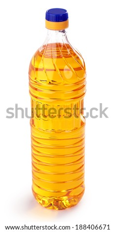 sunflower oil isolated on a white background.