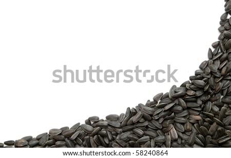 sunflower seeds, black seeds - stock photo