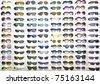 sunglasses background - stock photo