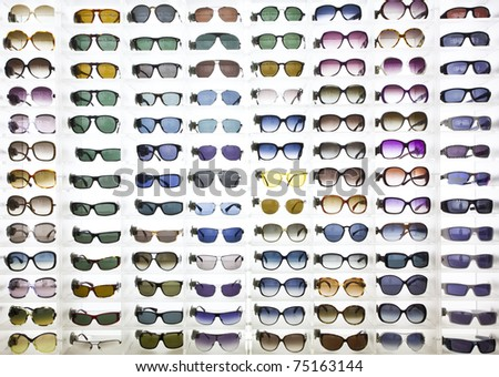 sunglasses background - stock photo