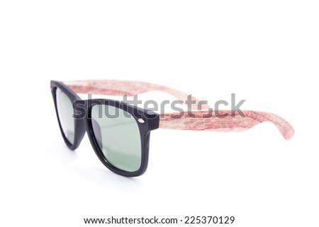 Sunglasses fasion isolated on white background. accessory object - stock photo