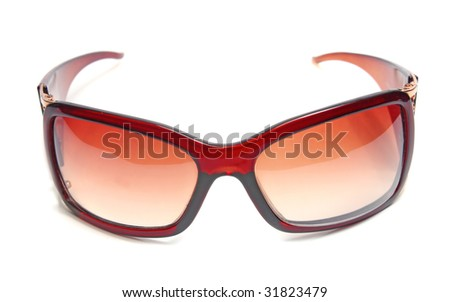 sunglasses female accessory isolated on white background