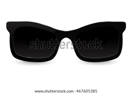 Sunglasses. Illustration isolated on white background. Raster version