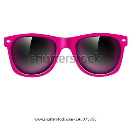 Sunglasses isolated. illustration background - stock photo