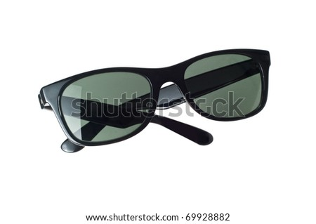 Sunglasses isolated on a white - stock photo